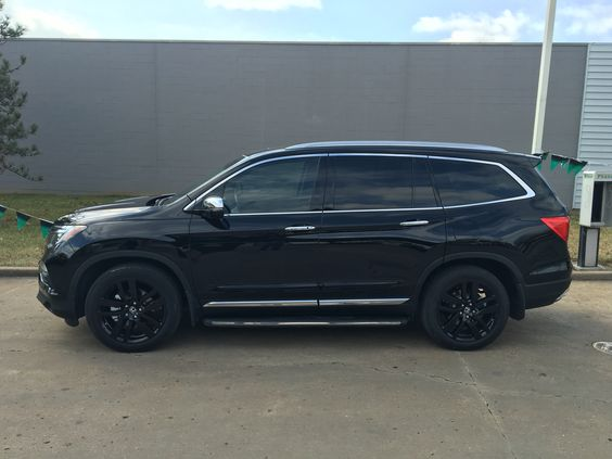 Honda pilot black rims for Black honda pilot