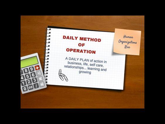 Daily method of operation by Susan Bachelder via slideshare