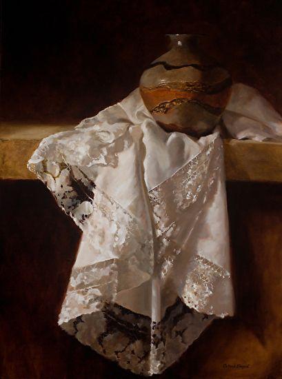 French Lace V Deborah Elmquist oleju ~ 40 x 30: