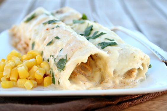 Honey Lime Chicken Enchiladas! Made with cumin instead.. delish