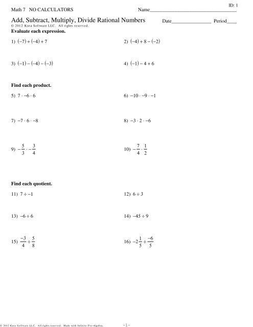 Multiplying And Dividing Rational Numbers Worksheet 7th Grade 2 In 2020 Number Worksheets Dividing Rational Numbers Rational Numbers