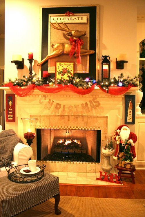 17 Best images about Decorating Fireplace Mantels Navidad