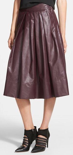 burgundy pleated midi dress http://rstyle.me/n/qqe4hr9te