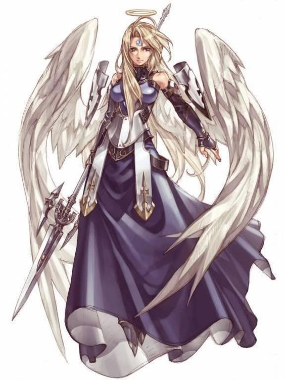 Anime white winged warrior angel image anime white - Anime female warrior ...