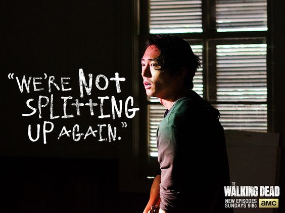 "We're sticking with Glenn;  Season 5  ""Strangers"""
