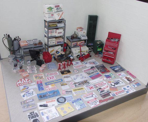 1 24 1 25 Barn Garage Diorama For Sale On Ebay: 1/24-1/25 Garage Diorama Accessories
