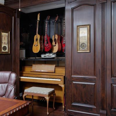Photo: Brian Bookwalter | thisoldhouse.com | Hidden hobby-room, a music-lover's dream