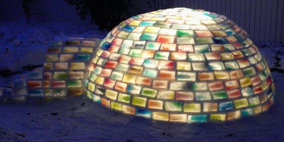 Colored igloo