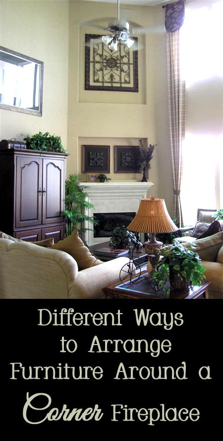 How to arrange furniture around a corner fireplace it is for Do it yourself living room ideas