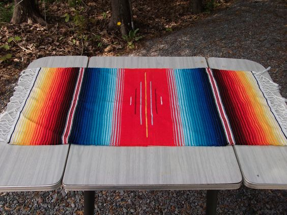 Serape - to go over seat backs. Need one more though.
