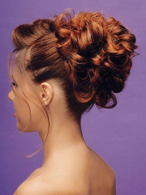 Pleasant Curly Bun Hairstyles Curly Bun And Bun Hairstyles On Pinterest Short Hairstyles Gunalazisus