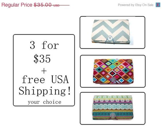 Cyber Monday Sale  Coupon Organizer  Holder  Keeper  3 by Laa766 chic / cute / preppy / laptop accessory / desk, computer accessory / office decor / gift / patterned design / school