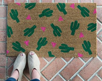 Watermelon doormat. Hand painted customizable by NickelDesignsShop