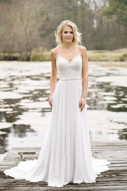 Vestido de noiva estilo boho - corte império