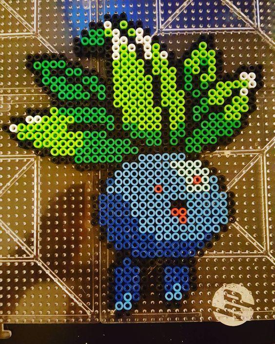 Oddish Pokemon perler beads by moone_flower