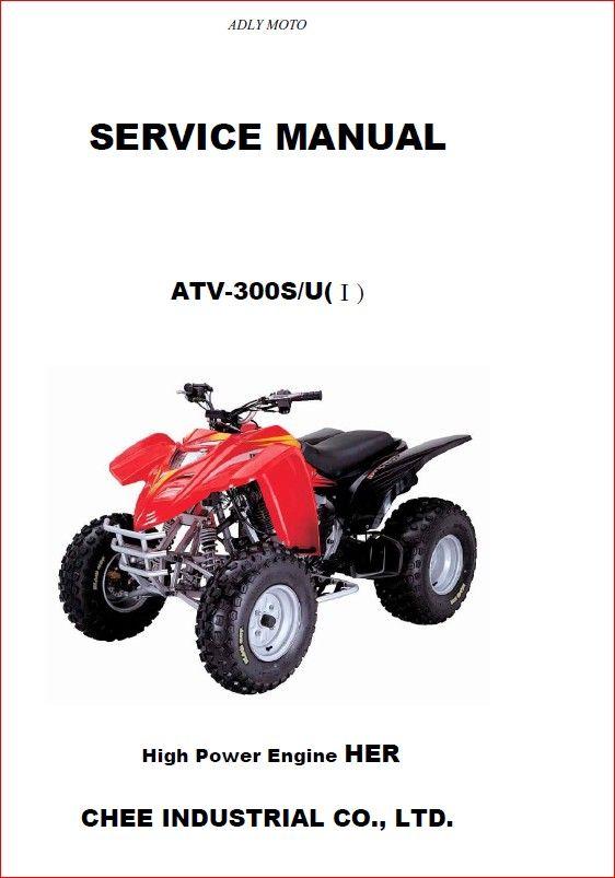 Adly 300u Atv 2006 2007 Workshop Service Manual Manual Workshop Atv