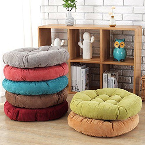 Jingxin Round Corduroy Floor Pillow Chair Cushion Tatami Style