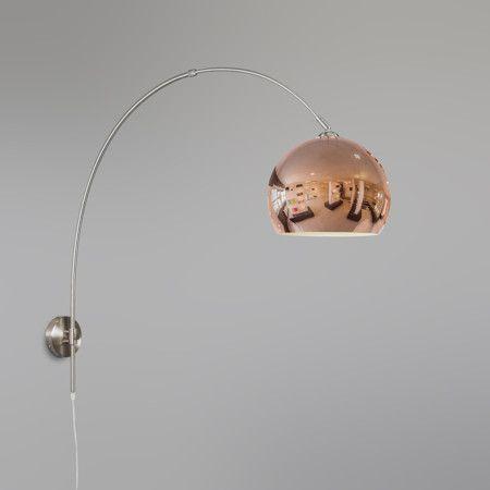 Mix 'n Match Wandbogenleuchte Schirm kugelförmig #Lampe #Innenbeleuchtung #Bogenleuchte #Wandlampe