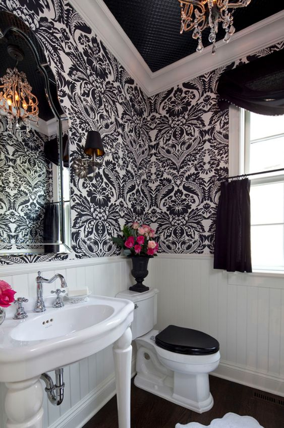 omgosh. would spend all my time there. If only my husband would let me do this to a bathroom someday...one can dream