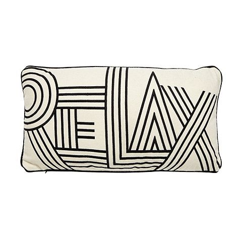 Ben de Lisi Home Designer black 'RELAX' cushion- at Debenhams.ie