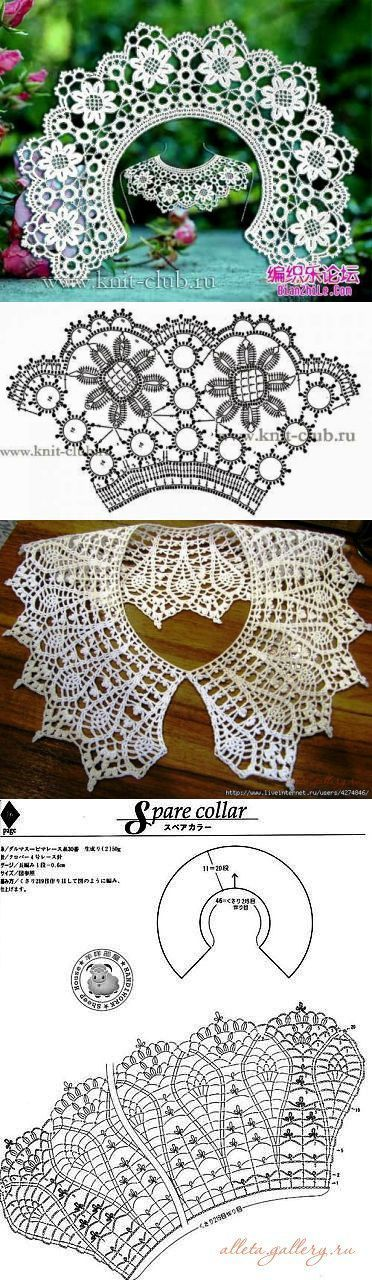 Новости...Free diagrams for this pretty collar!