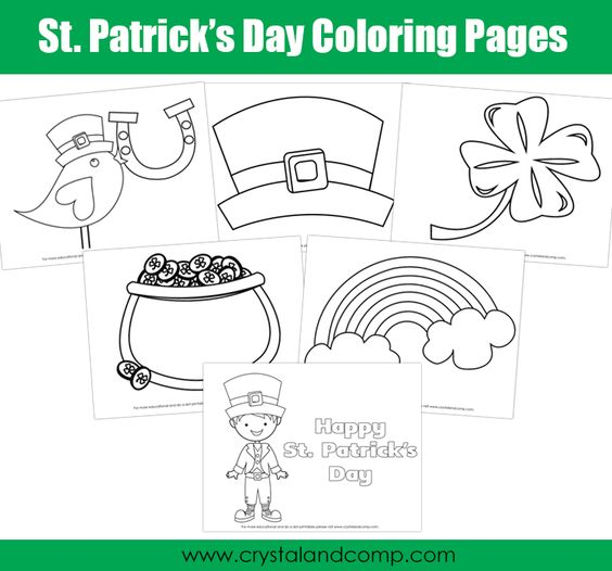 Kid Color Pages for St. Patrick\'s Day | Colorante, Polvo y Niño