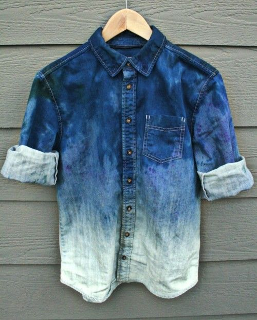 Degrade denim shirt  #menswear #menstyle Follow my SS13 board! www.eff-style.com