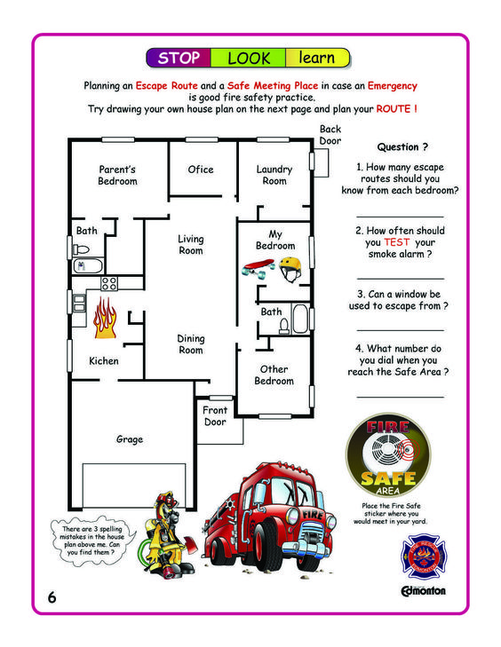 Perfect fire escape plan software with rich examples and template - evacuation plan templates
