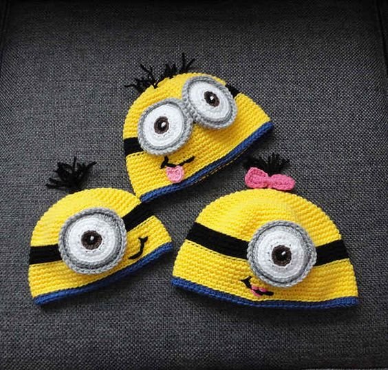29 Unbelievably Cool Things You Can Crochet For A Baby Minion hats, Crochet...