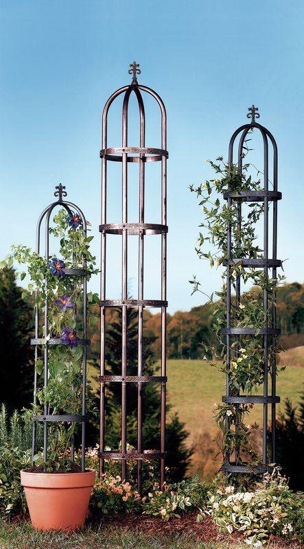 Steel Obelisk Trellis Gartenspaliere Metall Gartenkunst Hinterhof Garten