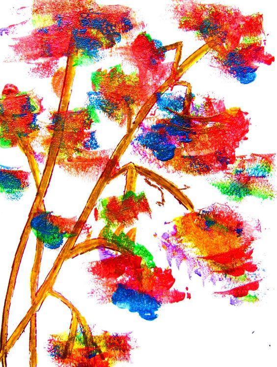 Easy art lessons easy art and art lessons on pinterest for Easy paintings for children