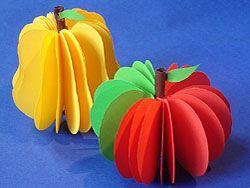 Einen Apfel + eine Birne basteln | Basteln & Gestalten