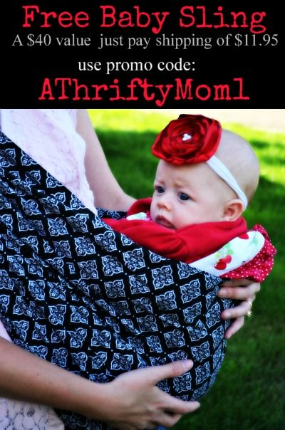 free baby sling code  FREEBIE  just pay shipping.