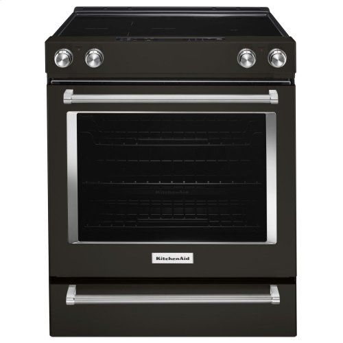 Kseg700ebs In Black Stainless Steel With Printshield Tm Finish By Kitchenaid In Bellingham Ma 30 Inch 5 Element Electric Slide In Convection Range Black S Convection Range Kitchen Aid Slide In Range
