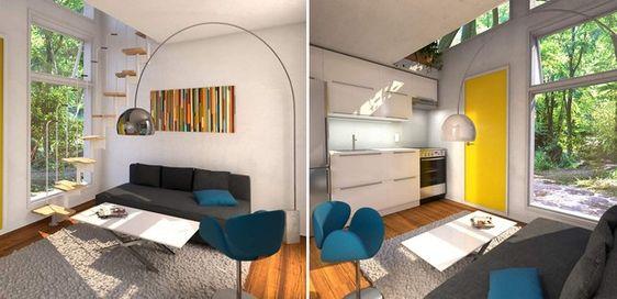 O interior deve ser decorado pelo comprador, porém a empresa indica várias opções modernas (Foto: Amazon/ Reprodução)