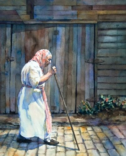 "Contemporary Painting - ""Stroll"" (Original Art from Peggi Habets Studio)"