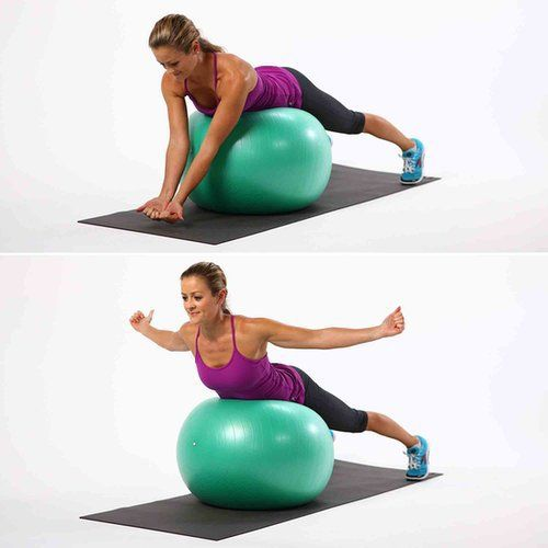 Back Exercises For Exercise Ball