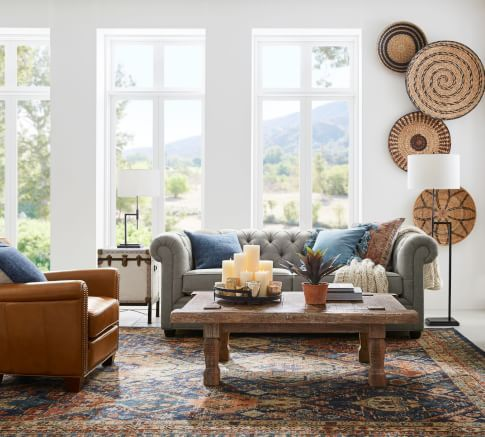 The 2020 Home Decor Trends For The Average Person In 2020 Pottery Barn Living Room Baskets On Wall Basket Wall Art