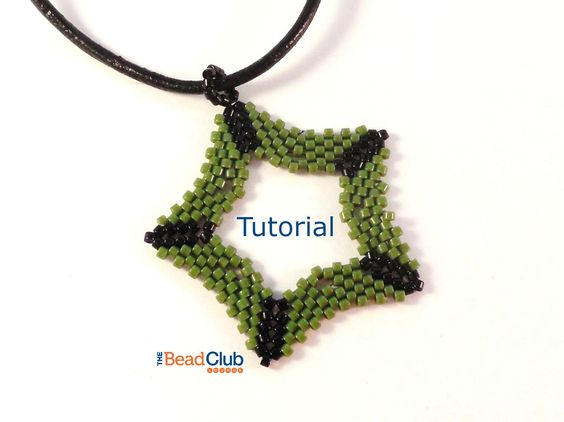 Peyote Stitch Pattern - Star Pendant - Seed Bead Pattern - Beading Tutorials and Patterns - Beadweaving Tutorial - Five-pointed Star Pendant by TheBeadClubLounge on Etsy