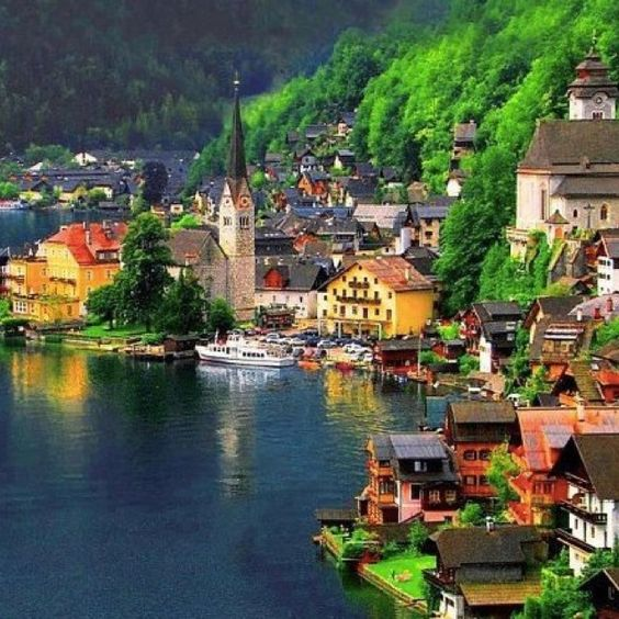 Hallstatt,Austria. We had a wonderful time here. Perfect town to bring your family to.