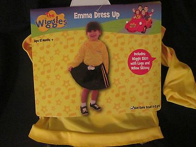 THE WIGGLES - EMMA YELLOW WIGGLE Dress Up Costume Size EXTRA SMALL 1-3 YRS NEW