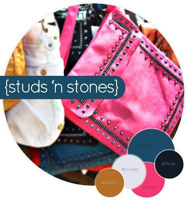 Quiet Lion Creations: Color Monday: Studs 'n Stones