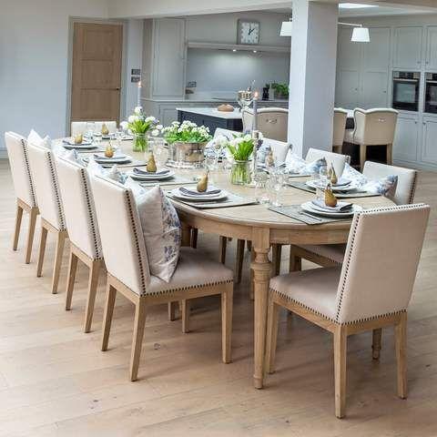 Brunswick Extending Weathered Oak Dining Table Oak Dining Table