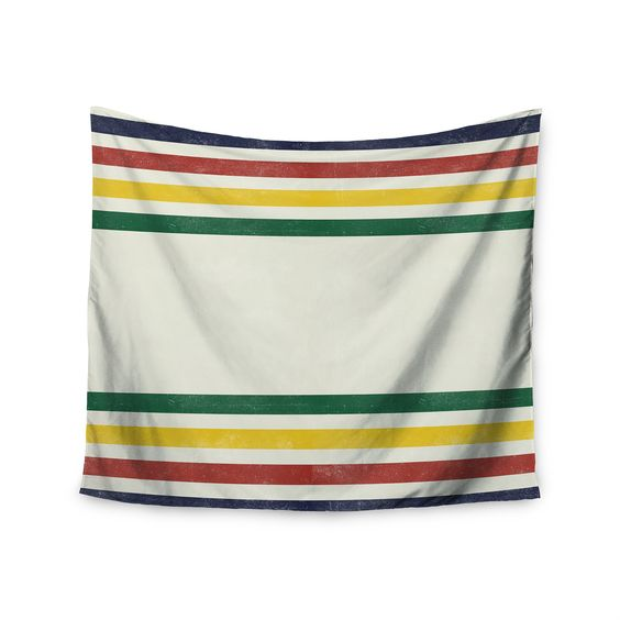 """Draper """"Eagle Scout"""" Green Stripes Wall Tapestry"""