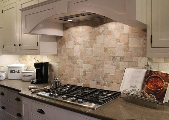Best tile inspiration roomscene gallery philadelphia for Travertine backsplash tile ideas