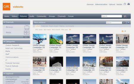 Videoportal für Unternehmen - Screenshot
