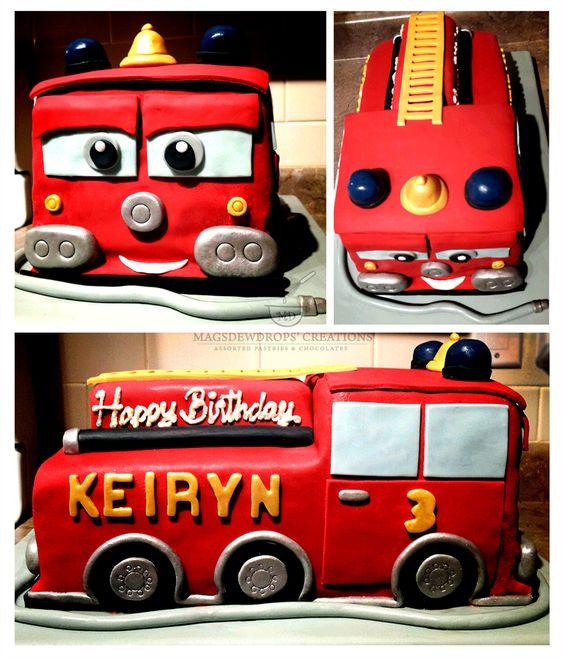 Fire Truck Theme Cake