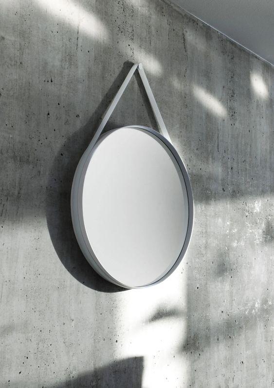 ウォールミラー スタンプ ヘイ インテリア 鏡 シンプル
