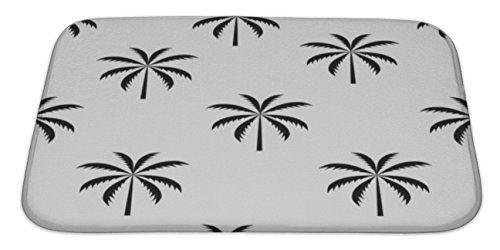 Gear New Palm Tree Pattern Bath Mat Microfiber Foam With Non Skid Backing 34 Patterned Bath Mats Palm Tree Pattern Tree Patterns