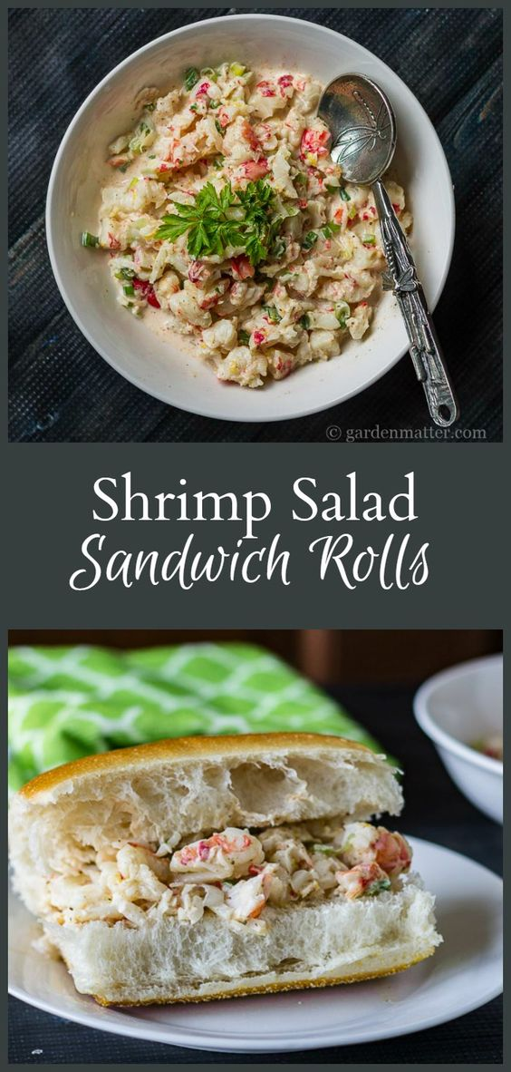 This shrimp salad sandwich roll recipe is an alternative to the more expensive lobster roll and just as tasty. Serve on a fresh roll or as a salad.